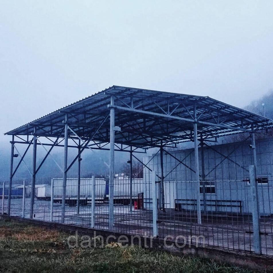 Ангар 12х30х5 каркас, склад під готову продукцію, літаки, для тварин. Прямостінний.