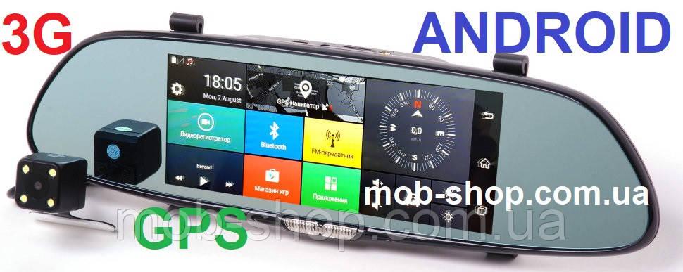 """Автомобильный регистратор-зеркало DVR D36 7"""" Android 3G"""