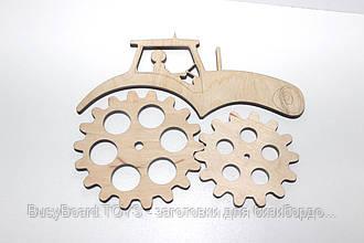 Заготовка для бизиборда Трактор фанера 4 мм №2