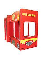 Детская двухъярусная кровать Пожарная машина. Кровать пожарная машина