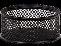 $Подставка для скрепок 80x80x40мм, металлическая, черная
