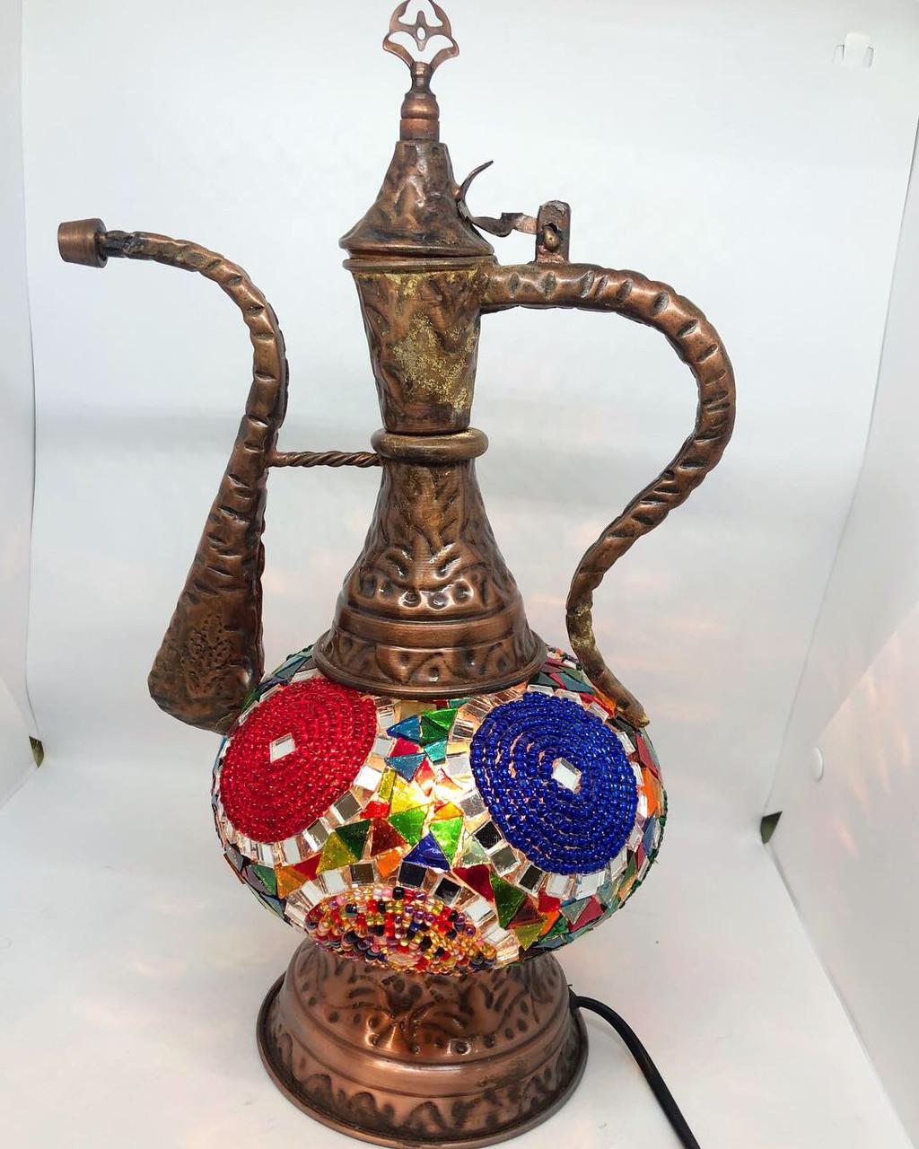 Настольный турецкий светильник лампа Алладина Sinan из мозаики ручной работы цветной