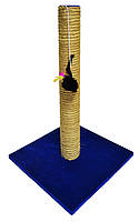 Когтеточка-столбик радуга с мышкой на квадратной подставке джут сизаль 40*40*65 Харьков, Херсон, Николаев