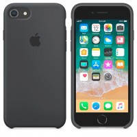 Оригинальный силиконовый чехол для Apple iPhone 7 / 8 Темно-серый