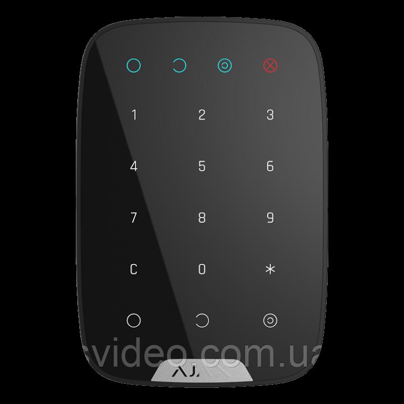 Беспроводная клавиатура  Ajax KeyPad black - черная