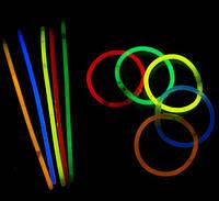 Светящиеся неоновые браслеты 1 лот = 100 штук, фото 1