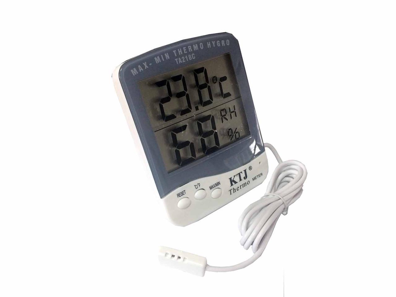 Цифровий термометр з гігрометром 2в1