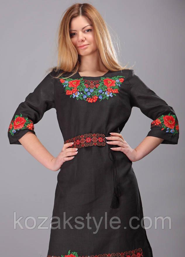 Сукня лляна вишита хрестиком  продажа 8425425d4695f