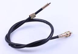 Трос спидометра L-880mm (верх квадрат - внутрення резьба, низ вилка - под болт) - ZUBR