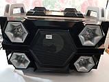 Бумбокс портативний AILIANG UF-1606B-DT колонки USB\Bluetooth\FM-тюнер\Пульт ДУ, фото 2