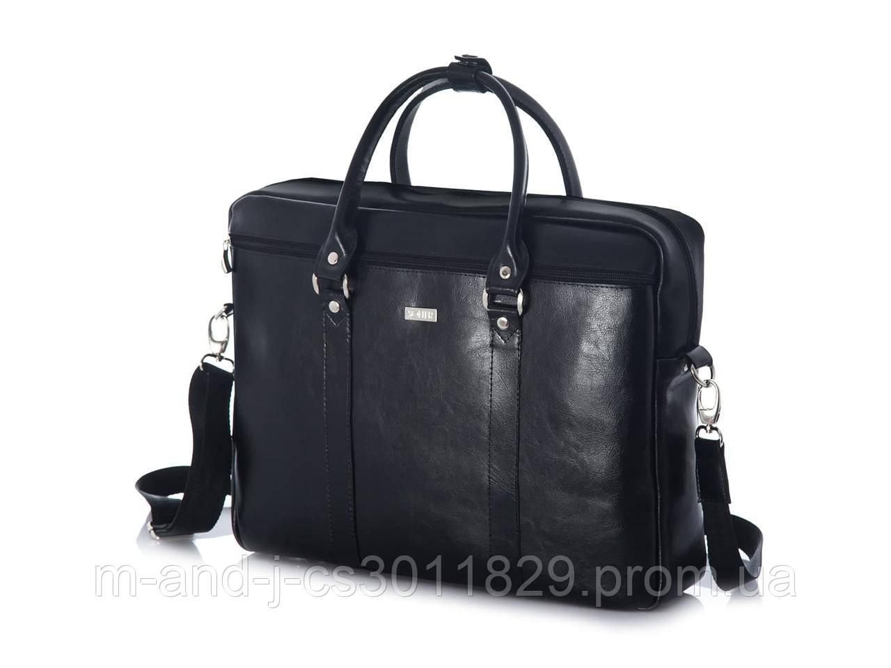 9e76836daaa3 Кожаная сумка для ноутбука через плечо черная Solier SL03 -  Интернет-магазин компании M&J в