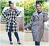Женское длинное шерстяное пальто Батал до 56 р 17902