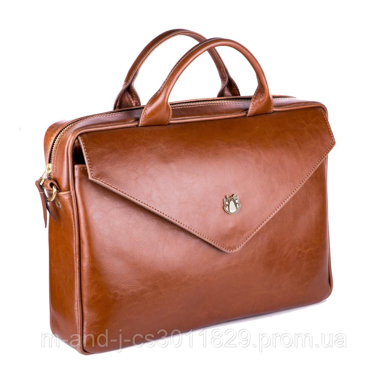 37aa4dff19f9 Кожаная женская сумка для ноутбука коричневая Felice Fl15 -  Интернет-магазин компании M&J в Харькове