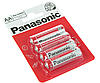 Батарейки набор Panasonic Red Zinc AA BLI 4 Zinc-Carbon