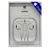 Наушники вкладыши Apple EarPods 3.5mm jack оригинал белые в подарочной упаковке
