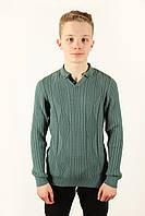Свитер мужской Ferraro 3870-G зеленый Размеры S(46/48), фото 1