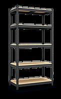Стеллаж Бюджет (1600х800х400) крашенный, 4 полки, МДФ, на зацепах, 175 кг/полка