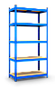 Стеллаж Бюджет (1600х800х400) крашенный, 4 полки, МДФ, на зацепах, 175 кг/полка, фото 2