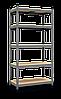 Стеллаж Бюджет (1600х800х400) крашенный, 4 полки, МДФ, на зацепах, 175 кг/полка, фото 3