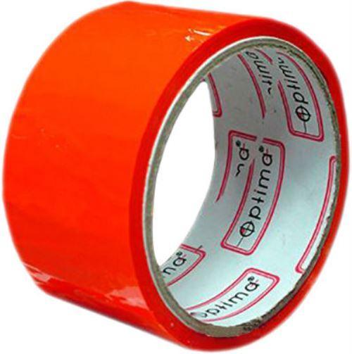 Лента клейкая упаковочная Optima красная 48*30
