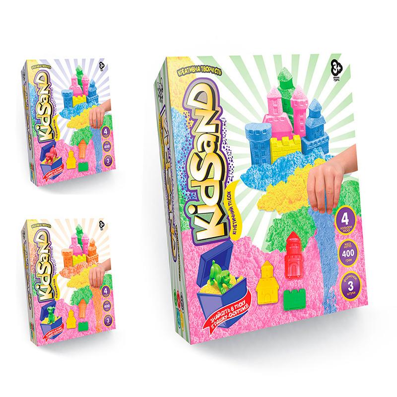 """Набір креативної творчості """"Кінетичний пісок""""KidSand"""", коробка 400 г, мікс кольорів"""