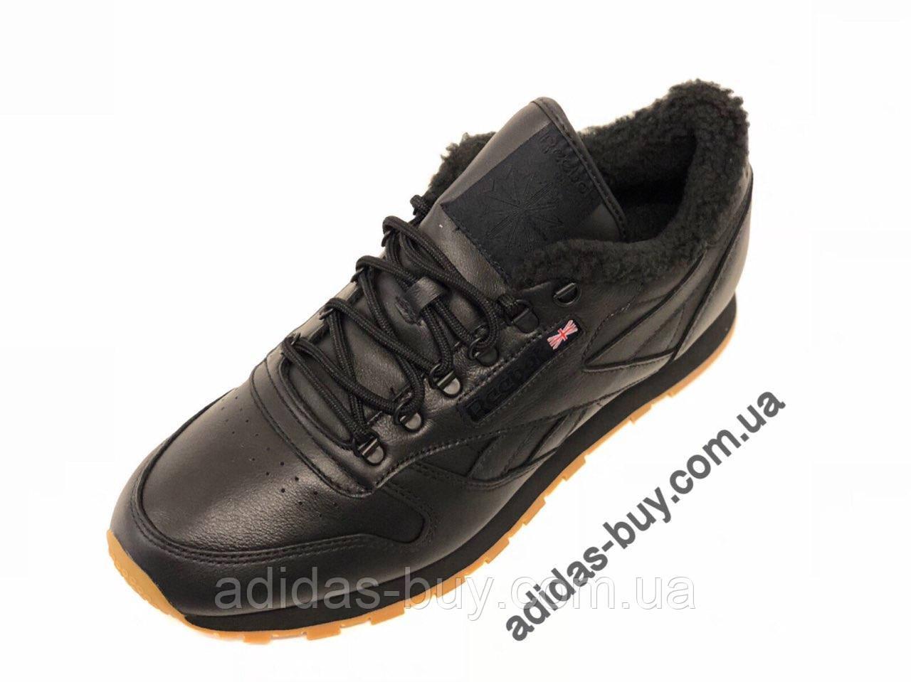 74d255cf8 Кожаные мужские кроссовки Reebok Leather Sherpa AR3505 оригинальные цвет:  чёрный