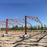 Зерносховище 24х30 Двускат Ангар Склад Навіс Каркас, фото 2