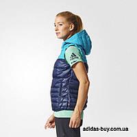 Женский оригинал жилет adidas COSY DOWN VEST BP9392 цвет: синий/голубой