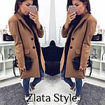 Стильное женское пальто из кашемира, фото 9
