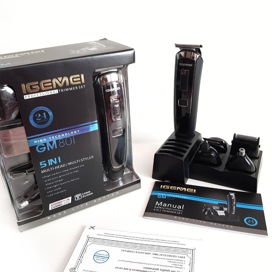 Машинка для стрижки мультитриммер Gemei GM-801 5в1