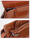 Рюкзак сумка (трансформер) женский городской кожаный  (черный), фото 9