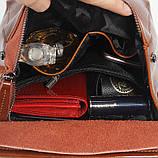 Рюкзак сумка (трансформер) женский городской кожаный  (черный), фото 10
