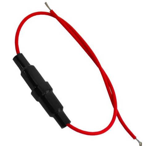Держатель предохранителя (Fuse) 5х20мм, с кабелем, фото 2