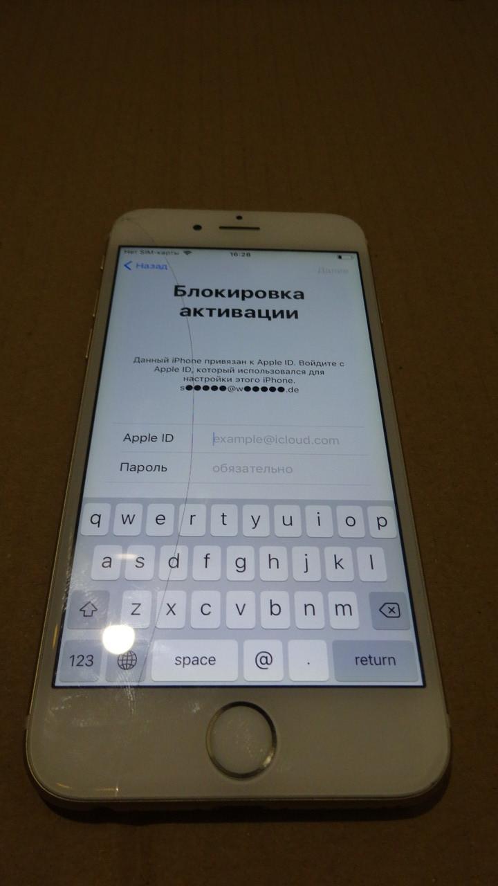 IPhone 6 1586 icloud золото потерт №13