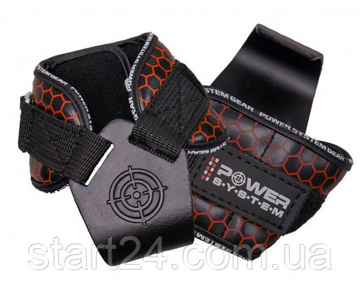 Крюки для тяги на запястья Power System Hooks V2 PS-3360 Black-Red, фото 2