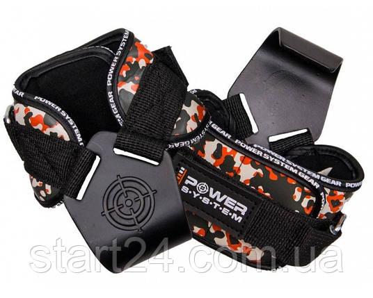Крюки для тяги на запястья Power System Hooks Camo PS-3370 Black-Red, фото 2