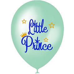 "Шар 12"" (30 см) Little prince Маленький принц перламутр аквамарин (Мексика)"