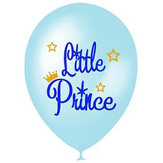 "Шар 12"" (30 см) Little prince Маленький принц перламутр голубой (Мексика)"