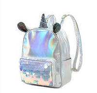 Рюкзак единорог голографический.Рюкзак с единорогом.