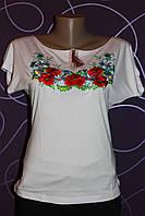 Жіноча вишиванка з маками і ромашками, р 42-50
