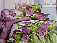 Постельное белье ALROSA полисатин  двухспальное на резинке