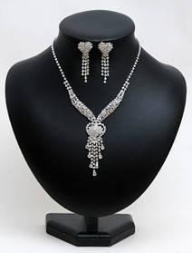 Комплект весільної біжутерії кольє і сережки HD23875