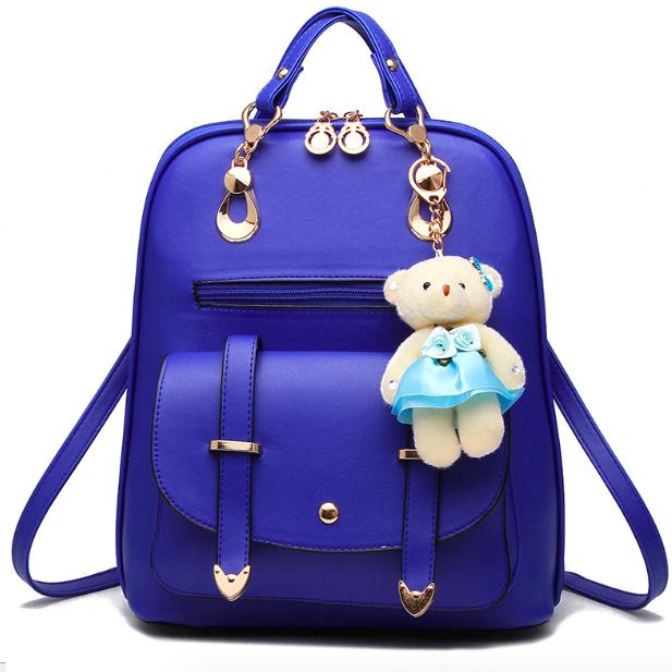 Рюкзак женский кожаный Sweet Bear Синий