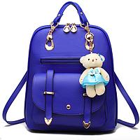 Рюкзак женский кожзам  сумка Sweet Bear Синий