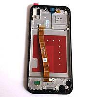 Дисплей для Huawei P20 Lite Dual Sim (ANE-L21) + touchscreen, черный, с передней панелью Высокое качество