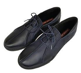 Мужские кожаные мокасины кроссовки Luciano Bellini синие K0003/03