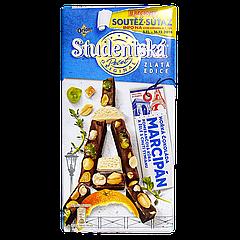 Шоколад Studentska черный с апельсином и марципаном 170г (1ящ/15шт)