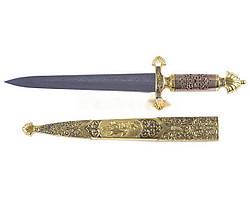 Кортик / кинжал царский Князь сувенирный  + ножны, точной копией гравировки и размерами наградного оружия