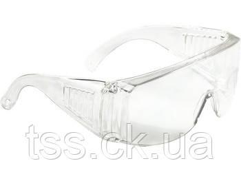 Окуляри захисні відкритого типу, прозорі, ударостійкий полікарбонат // СИБРТЕХ, фото 2