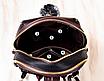 Рюкзак женский кожам Sminica с помпоном Коричневый, фото 7